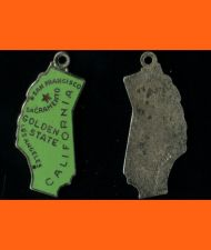 Buy Enamel & Sterling California Souvenir Map Charm