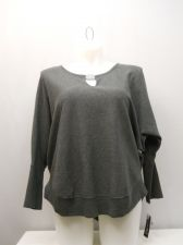 Buy PLUS SIZE 1X Womens Sweat Shirt INC Grey Scoop Neck Dolman Sleeves Pullover