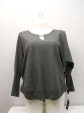 Buy Plus Size 1X Women's Sweat Shirt INC Grey Scoop Neck Dolman Sleeves Pullover
