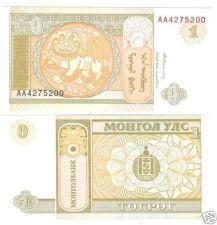 Buy MONGOLIA 1 TURIK SUPER NICE NOTE UNCIRCULATED~FREE SHIP