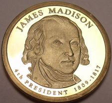 Buy United States 2007-S James Madison Presidential Proof Dollar~Free Shipping