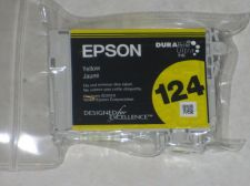 Buy Epson 124 YELLOW ink cartridge = printer Stylus NX125 NX127 NX130 NX230 NX420