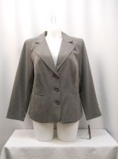 Buy Plus Size 14W Women's Suit Jacket Blazer AGB Collared Long Sleeves Lined Solid