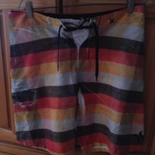 Buy Mens Multicolored Hurley Board Shorts Size 32 beautiful condition