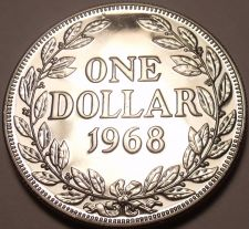 Buy Massive Proof Liberia 1968 Dollar~14,396 Minted~1st Year Ever Minted~Free Ship