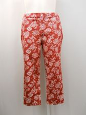 Buy SIZE 20 XXL Womens Capri Jeggings FADED GLORY Red Floral Back Pockets Mid Rise