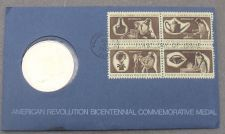 Buy 1972 BICENTENNIAL FIRST DAY COVER MEDALLION~REVOLUTION~GEORGE WASHINGTON~FR/SHIP