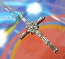 "Buy Cross Pendant: Sterling 925 Silver Multi CZ 1 Inch ""DBJ"" Thailand (No Chain)"
