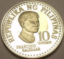 Buy Rare Proof Philippines 1979 10 Sentimos~Only 3,645 Minted~Bank Seal~Free Ship