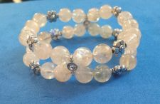 Buy Handmade Double Bracelet with Translucent Citrine Beads