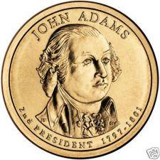 Buy GEM BU JOHN ADAMS 2007-P PRESIDENTIAL DOLLAR~FREE SHIP~