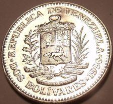 Buy Large Gem Unc Venezuela 1990 2 Bolivares~We Have Unc South American Coins~Fr/Shi