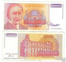 Buy YUGOSLAVIA 50,000,000~FIFTY MILLION DINARA~~FREE SHIP~~