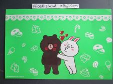 Buy Line Friends App Love BROWN & CONY Kiss Green Poster 7.5 x 11 in Sign Waterproof