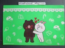Buy Line Friends App Love BROWN & CONY Kiss Green Poster 7.5 x 11 in Sign Waterproof