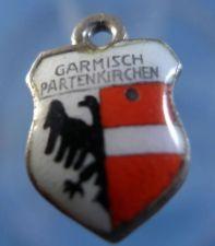 Buy GARMISCH PARTENKIRCHEN Enamel & 800 Silver Travel Shield Souvenir Charm