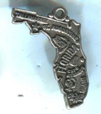 Buy VINTAGE STERLING SILVER FLORIDA MAP SOUVENIR CHARM #02