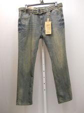 Buy MENS JEANS Size 42X32 FUSAI Acid Wash Straight Leg Comfort Slim Fit 100% Cotton
