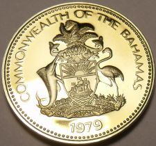 Buy Rare Proof Bahamas 1979 5 Cents~Pineapple~Only 2.053 Minted~Awesome~Free Ship