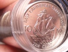 Buy Gem Unc Roll (50) East Caribbean States 2002 10 Cents~Sir Frances Drake~Free Shi