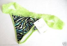 Buy X315 Rene Rofe Intimates NEW Lime Abstract Wave Print Lace Waistband Thong PR