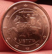 Buy Gem Unc Lithuania 2015 5 Euro Cents~Knight On a Horse~Free Shipping