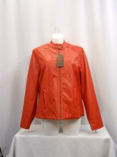 Buy PLUS SIZE 3XL Motorcycle Jacket YOKI Solid Red Faux Leather Sequin Trim Zip Cuff