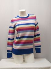 Buy Faded Glory Women's Sweater Size S Striped Crew Neck Long Sleeves Pullover