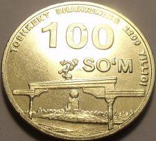 Buy Unc Uzbekistan 2009 100 Som~Tashkent, 2200th Anniversary of Settlement~Free Sh*