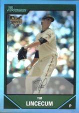 Buy 2013 Bowman Tim Lincecum Blue Sapphire Refractor SF Giants #BDP11 RC Reprint
