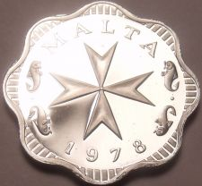 Buy Rare Cameo Proof Malta 1978 2 Mils~Maltese Cross~3,244 Minted~Free Shipping