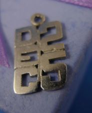 Buy vintage CHARM: sterling 925 silver DECEMBER 25th