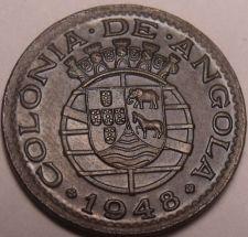 Buy Rare Unc Angola 1948 20 Centavos~300th Anniversary Of The Revolution~Free Ship