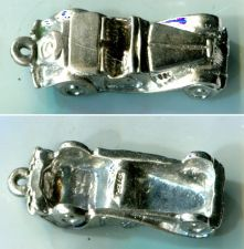 Buy CHARM: sterling 925 silver VINTAGE CONVERTIBLE CAR AUTOMOBILE #1