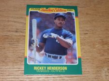 Buy VINTAGE Rickey Henderson New York Yankees 1986 FLLER LIMITED EDITION GLOSSY NMNT