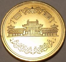 Buy Choice Gem Unc Japan Year 57~1982 10 Yen~Rular Hirohito~Temple~Free Shipping