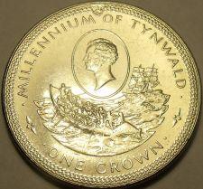 Buy Massive Gem Unc Isle Of Man 1979 Crown~William Hillory~Millennium Of Tynwald~F/S