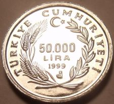 Buy Gem Unc Turkey 1999 F.A.O. Issue 50,000 Lira~Wow~We Have FAO Unc Coins~Free Ship