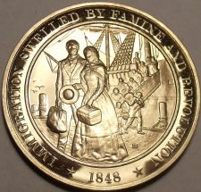 Buy 1848~GOLD DISCOVERED IN CALIFORNIA~WAR ENDS WITH MEXICO~BRONZE PROOF~FREE SHIP~