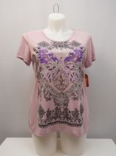 Buy Faded Glory Women's Knit Top Size XL Lavender Crochet Lace Trim Embellished