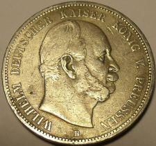 Buy MASSIVE RARE PRUSSIA 1876-B 5 MARK~FANTASTIC~FREE SHIP~