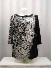 Buy JM COLLECTION Women's Tunic Knit Top Size XL Floral Scoop Neck 3/4 Sleeves