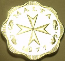 Buy Rare Cameo Proof Malta 1977 2 Mils~Maltese Cross~Only 6,884 Minted~Free Shipping