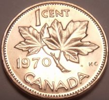 Buy Gem Unc Canada 1970 Maple Leaf Cent~We Have Canadian Coinage~Free Shipping