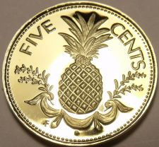 Buy Rare Proof Bahamas 1978 5 Cents~Pineapple~Only 6,931 Minted~Awesome~Free Ship