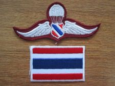 Buy SIAM Police Paratrooper Wing Badge Patch with Embroidery Thailand Country Flag