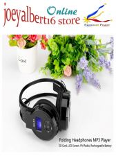 Buy Folding Headphones MP3 Player - SD Card, LCD Screen, FM Radio, Rechargeable Batt
