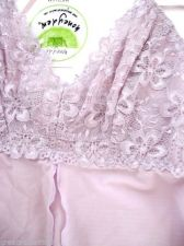 Buy A0405 Honeydew Luxury Lace Embroidery and Mesh Camisole G-String Set Lilac 8147