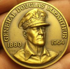 Buy Large 39.5mm Solid Bronze Douglass MaCarthur Gem Unc Medallion~Awesome~Free Ship