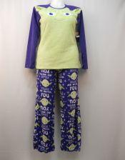 Buy Star Wars Yoda Women's Pajamas 2PC Set Size L Sleep Shirt & Pants Minky Fleece